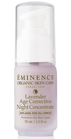 Herbs used in beauty products, lavender - bath and beauty products - Lavender Age Corrective Night Concentrate by Eminence Organic Skin Care