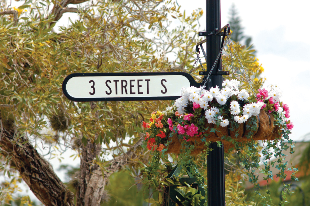 Third Street South in Naples' historic district offers fine dining and upscale shopping.