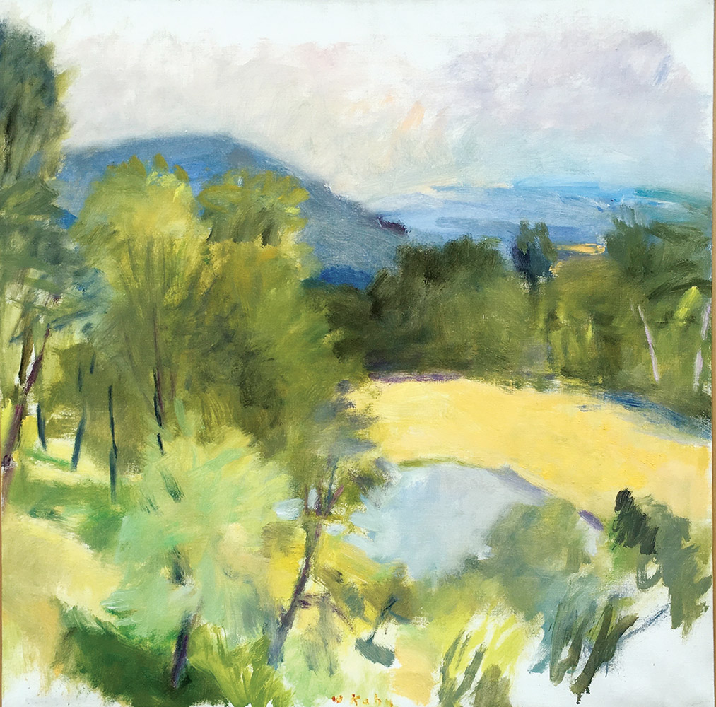 wolf-kahn-looking-over-harveys-pond-1988-oil-n-canvas-28-x-28-in-1-copy